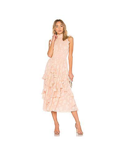 Вечернее платье розовое на пуговицах Rebecca Taylor