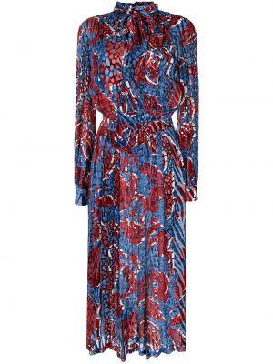 Синее платье с длинными рукавами Stella Jean