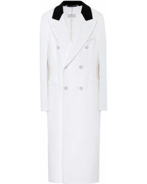Белое шерстяное зимнее пальто Maison Margiela