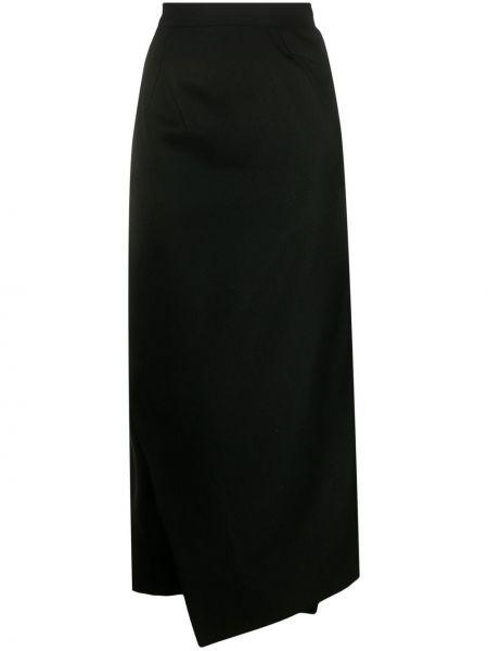 Шерстяная черная с завышенной талией юбка миди Vivienne Westwood