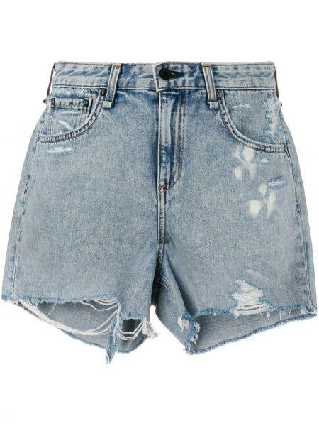 Джинсовые шорты с карманами на пуговицах Rag & Bone