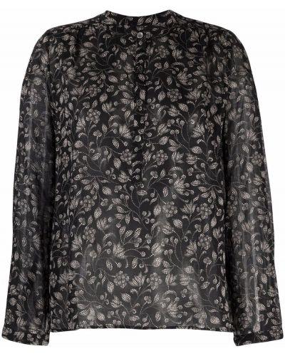Черная рубашка с принтом Isabel Marant Étoile