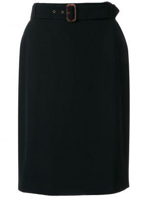 Плиссированная черная юбка мини с поясом винтажная Jean Paul Gaultier Pre-owned