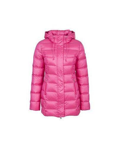Розовый пуховик зимний Ea7