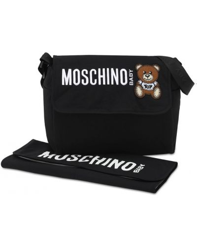 Czarna torebka z nylonu Moschino