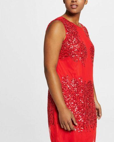 Красное коктейльное платье Violeta By Mango