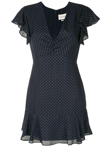 Платье в горошек с V-образным вырезом Alexis