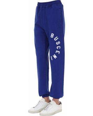Niebieskie joggery bawełniane Buscemi