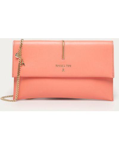 Różowa torebka duża skórzana Patrizia Pepe