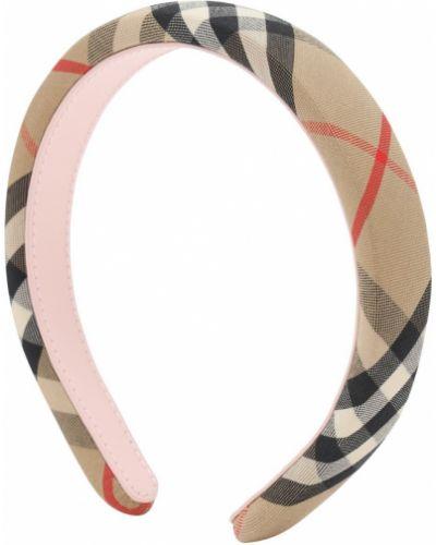 Bawełna bawełna beżowy opaska na głowę Burberry