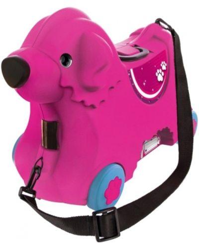 Розовый чемодан на бретелях Big