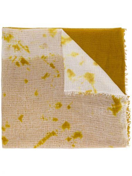 Кашемировый желтый шарф Suzusan