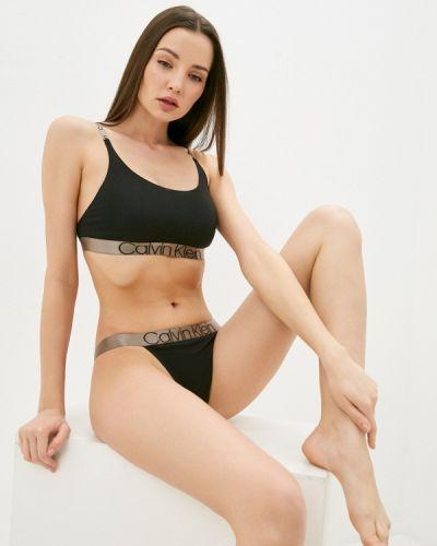 Черный бюстгальтер без косточек Calvin Klein Underwear