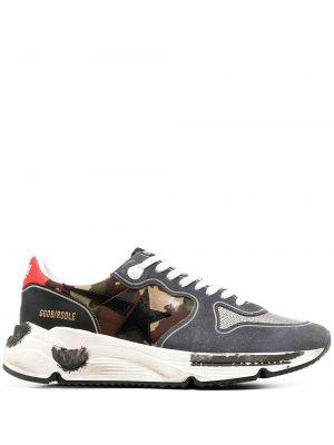 Ażurowy sneakersy z prawdziwej skóry na sznurowadłach okrągły Golden Goose
