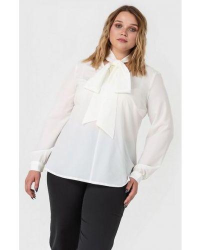 Повседневная белая блузка из вискозы с завязками Vovk