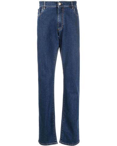 Синие прямые джинсы классические Billionaire