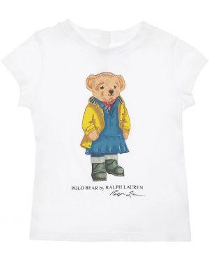T-shirt na szyi Ralph Lauren
