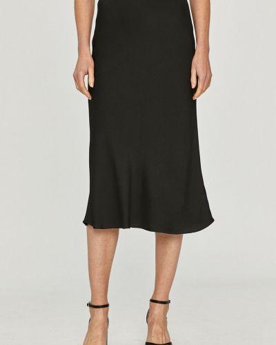 Czarna spódnica midi z wiskozy na co dzień Calvin Klein