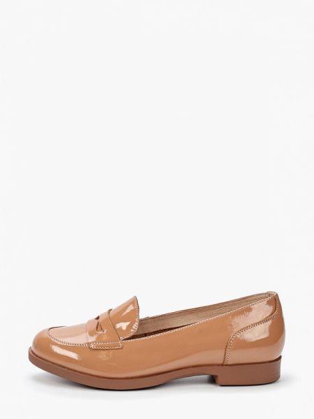 Кожаные туфли бежевый лаковые Thomas Munz