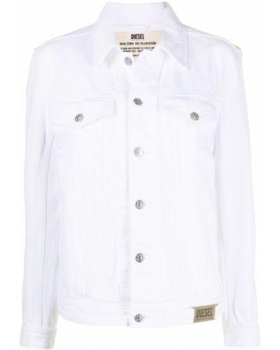 Белая джинсовая куртка с воротником с карманами Diesel