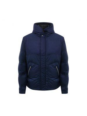 Синяя куртка из полиуретана Cortigiani