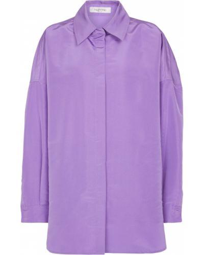 Фиолетовая шелковая рубашка Valentino