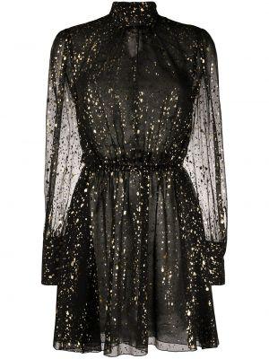 Платье с поясом на пуговицах с прозрачными рукавами Msgm