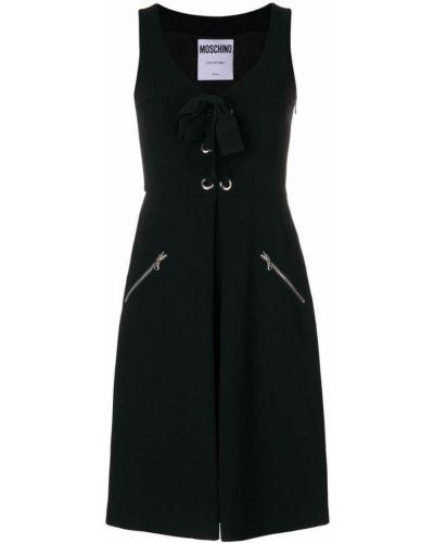 Платье шелковое с карманами Moschino