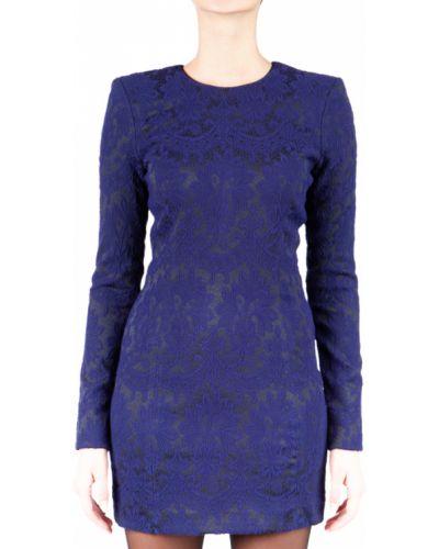 Платье осеннее синее Plein Sud