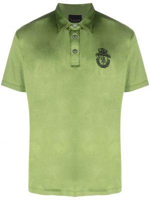 Хлопковая зеленая рубашка с короткими рукавами Billionaire