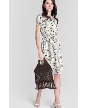 Платье мини с цветочным принтом через плечо Ostin