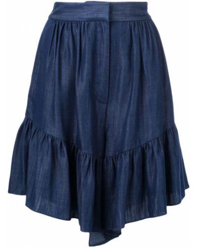 Однобортные шорты с карманами Tibi