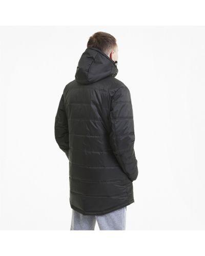 Флисовая черная куртка с капюшоном Puma