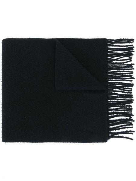 Wełniany czarny szalik przycięte Acne Studios