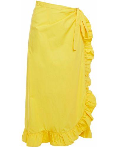 Ажурная хлопковая желтая юбка миди Antik Batik
