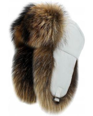 Шапка-ушанка с мехом из енота Finn Flare