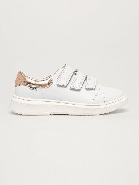 Кожаные кроссовки - белые Bartek