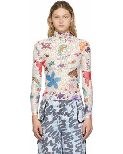 Koszulka z długimi rękawami - biała Collina Strada