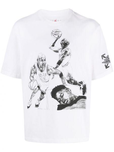 Czarny t-shirt bawełniany krótki rękaw Nike X Off White