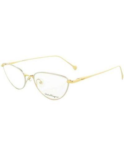 Żółte okulary Salvatore Ferragamo