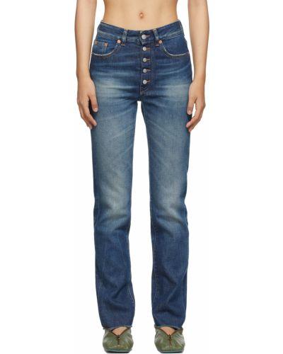 Джинсовые прямые джинсы - белые Mm6 Maison Margiela