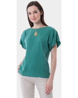 Блузка с коротким рукавом бирюзовая весенний Vladi Collection