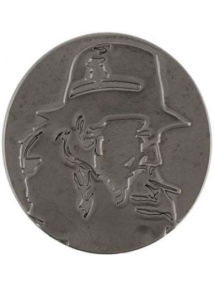 Czarna broszka ze srebra srebrna Yohji Yamamoto