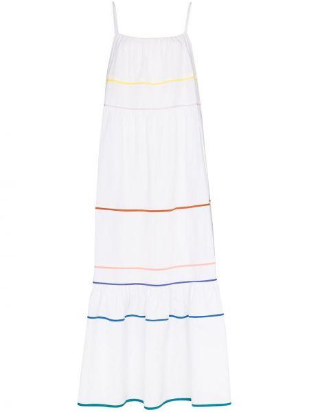 Белое платье макси на бретелях с вырезом квадратное Araks