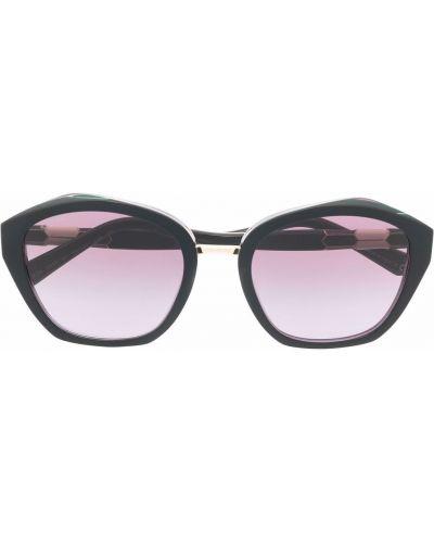 Черные солнцезащитные очки оверсайз Bvlgari