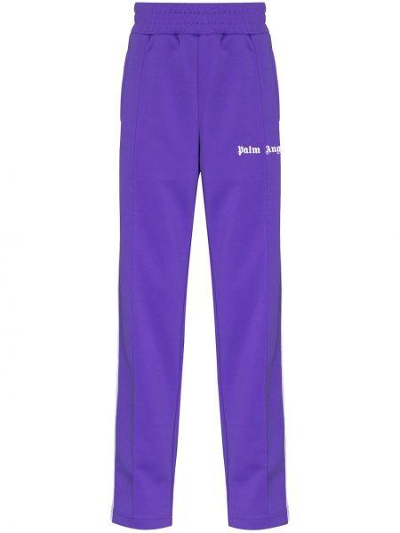 Fioletowy spodnie z paskami Palm Angels