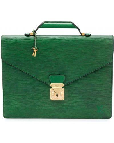 Zielona teczka skórzana Louis Vuitton