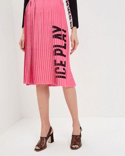 Плиссированная юбка розовая Ice Play