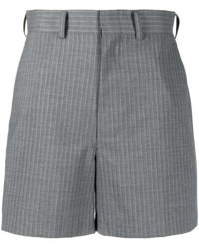 Серые шорты в полоску с карманами Junya Watanabe