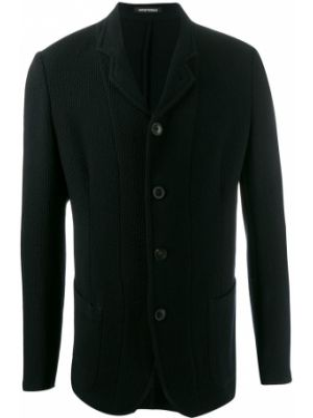 Długa kurtka niebieska z guzikami Emporio Armani